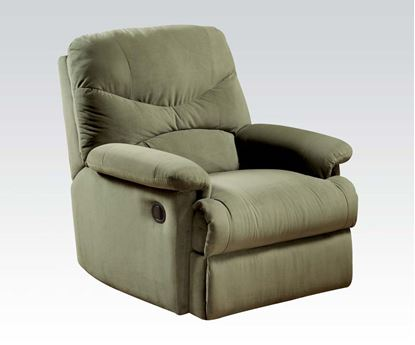 Picture of Contemporary Arcadia Sage Microfiber Recliner
