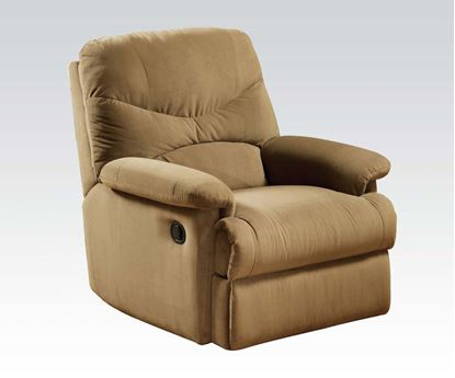 Picture of Arcadia Light Brown Microfiber Fabric Motion Recliner Chair