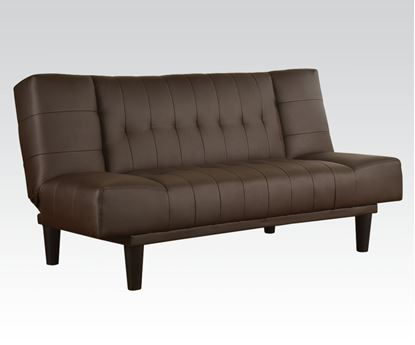 Picture of Contemporary Brown PU Adjustable Sofa with Unusual Design