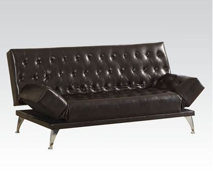 Picture of Modern Brown Pu Sleeper Sofa