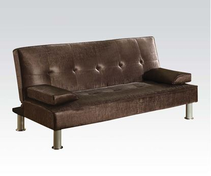 Picture of Modern Chocolate PU Adjustable Sofa Bed Futon Sleeper