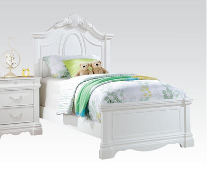 Picture of Estrella White Finish Kids Twin Bed