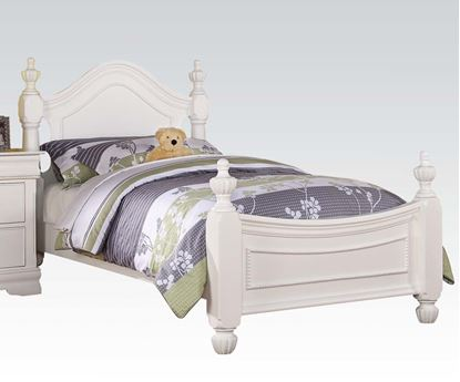 Picture of Classique White Finish Youth Twin Size Bed