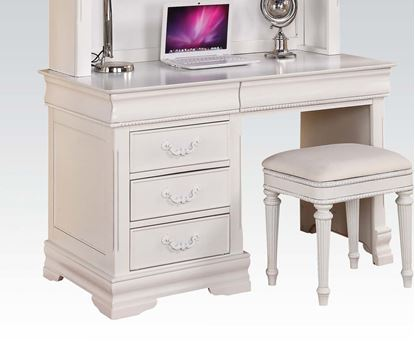 Picture of Classique White Finish Youth Computer Desk w/ 3 Drawers