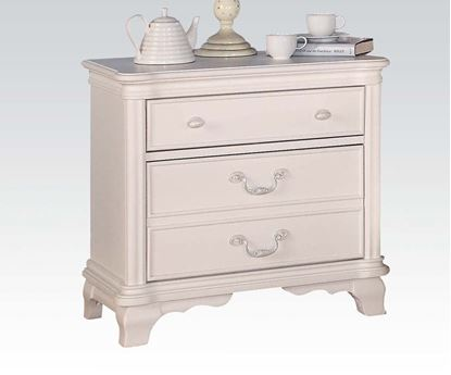 Picture of Ira Two Tone Youth Nightstand in White Finish