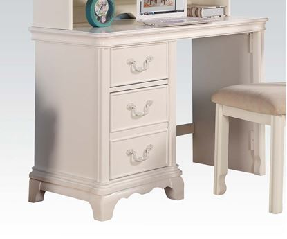 Picture of Ira Two Tone Youth Bedroom 3 Drawers Computer Desk in White Finish