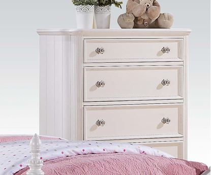 Picture of Athena White Finish 5 Drawers Chest