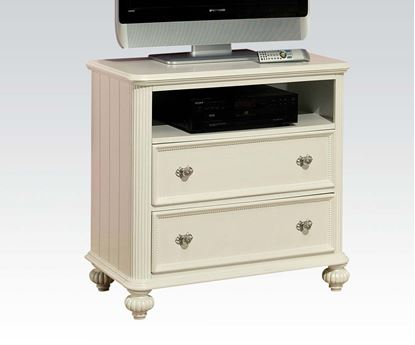 Picture of Athena White Finish Storage Drawer TV Console