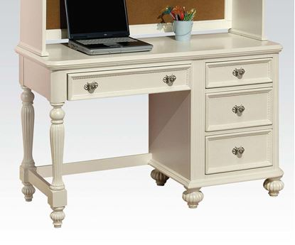 Picture of Athena White Finish 4 Drawer Youth Computer Desk