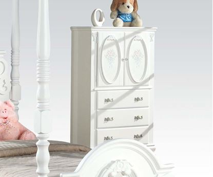 Picture of Flora White Finish TV Armoire