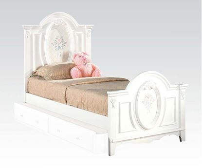 Picture of Flora White Finish Twin Size Bed