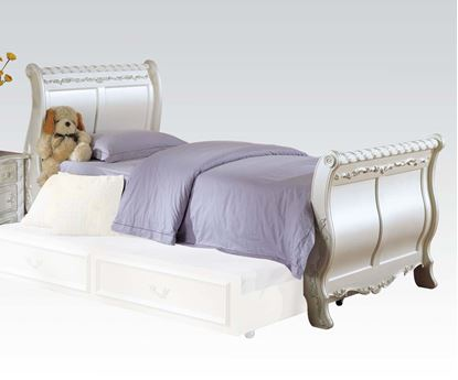 Picture of Pearl White Finish Twin Sleigh Bed