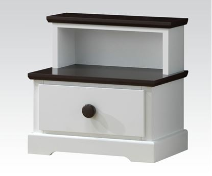 Picture of Docila White and Chocolate Finish Night Stand