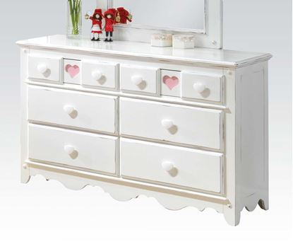 Picture of Sweetheart White Finish Youth Dresser