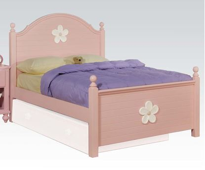 Picture of Floresville Pink w/ White Flower Twin Size Bed