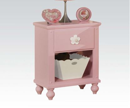 Picture of Floresville Pink Finish Wood Nightstand