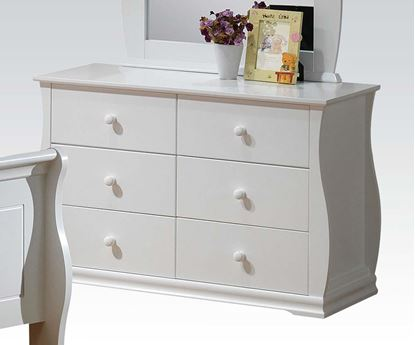 Picture of Nebo White Wave Shaped 6 Drawers Dresser
