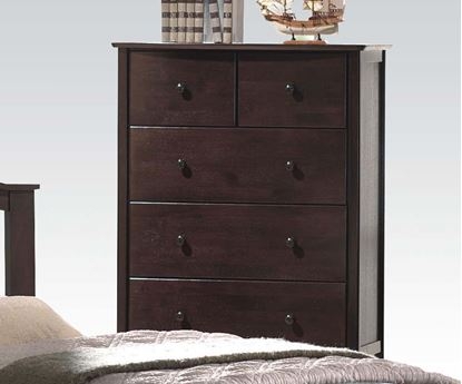 Picture of San Marino Transitional Walnut Finish Wood Kids Chest