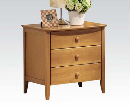 Picture of San Marino Transitional Nightstand in Maple finish
