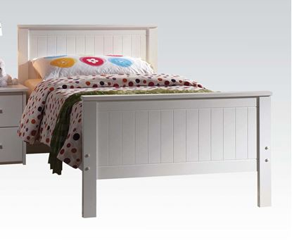 Picture of Bungalow White Finished Youth Full Size Bed