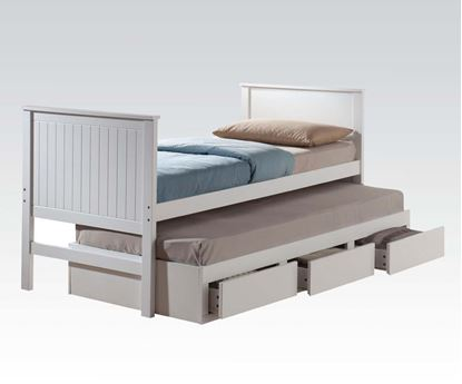 Picture of Bungalow White Finish Youth Captain Twin Bed