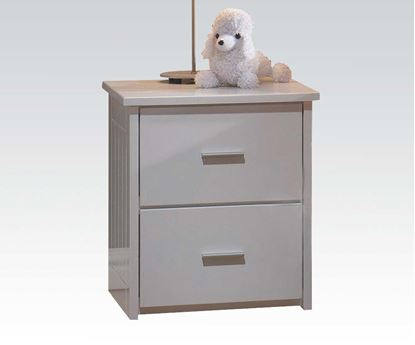 Picture of Bungalow White Finished 2 Drawer Youth Bedroom Nightstand