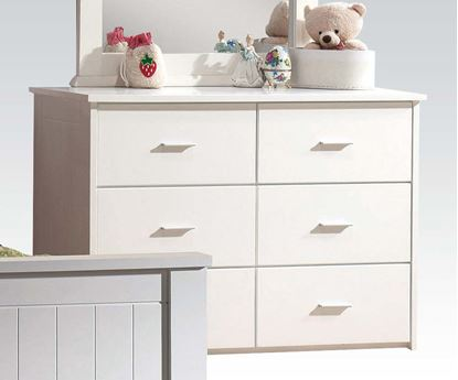 Picture of Bungalow White Finished Youth 6 Drawers Dresser