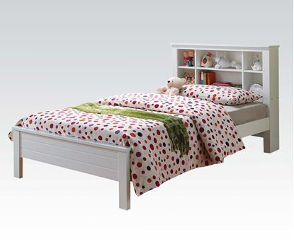 Picture of Yara White Finish Twin Size Bed Twin Bed
