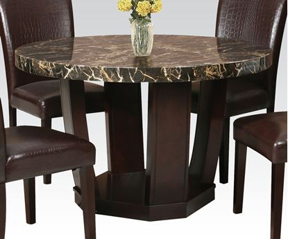 Picture of Black Faux Marble 48 Dia Dining Table