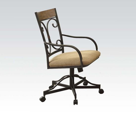 Picture of Tranditional 2 Pcs. Caster Arm Chair   (Set of 2)