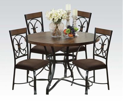 """Picture of 71120 5Pc Pk Dining Set W 40""""Dia"""
