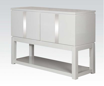 Picture of Modern White 2 Door Server with Shelf