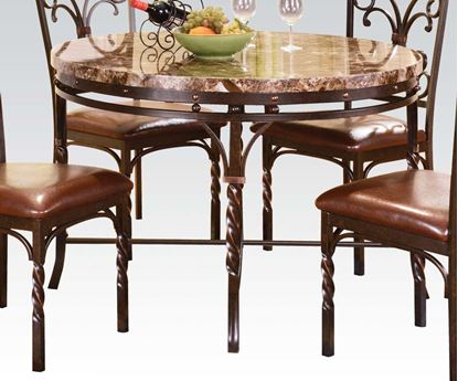Picture of Traditional Burril Faux Marble/metal Dining Table