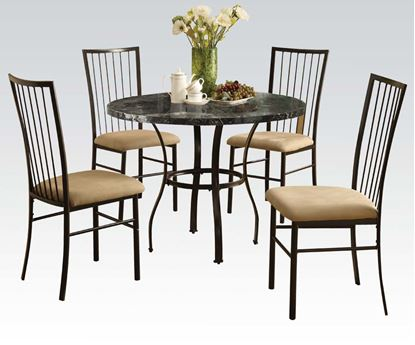 "Picture of 36""Dia Bk  5Pc Pk Dining Set  W/P2 (Ista 3A)"