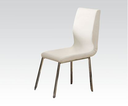Picture of Kilee Collection 4 Pcs. White Finish Side Chair    (Set of 4)