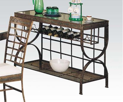 Picture of Egyptian Transitional Metal and Glass Top Server