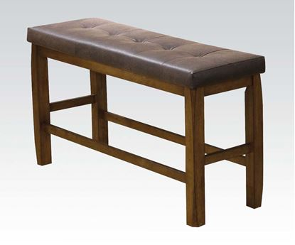 Picture of Morrison Oak Finish Counter Height Dining Bench
