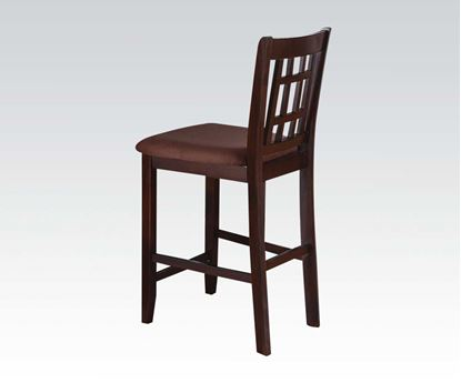 Picture of Adalia Walnut Finish 2 Pcs. Counter Height Chair by    (Set of 2)