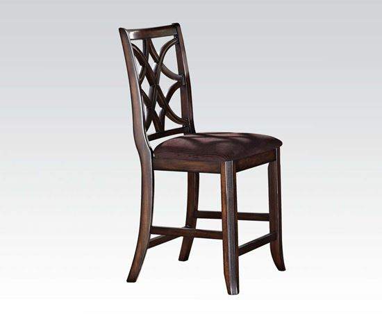 Picture of Keenan Walnut Finish 2 Pcs. Counter Height Chair    (Set of 2)