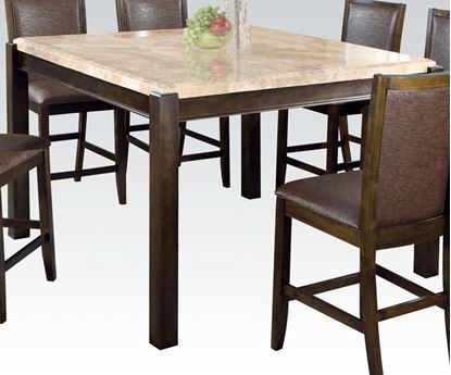 Picture of Charissa Counter Height Dining Table with Marble Top