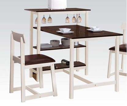Picture of Hallie White and Espresso Counter Height Table