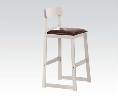 Picture of Hallie 2 Pcs. Bar Stool in White Finish     (Set of 2)