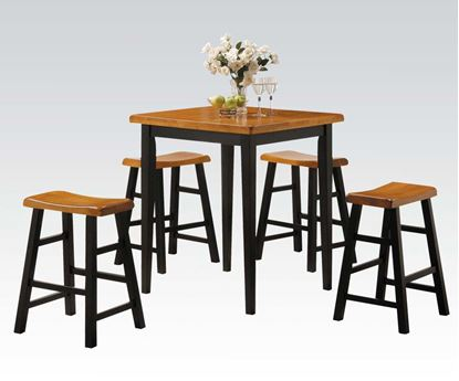 Picture of 5 PCs. Pack  Contemporary Natural Counter Height Table Set