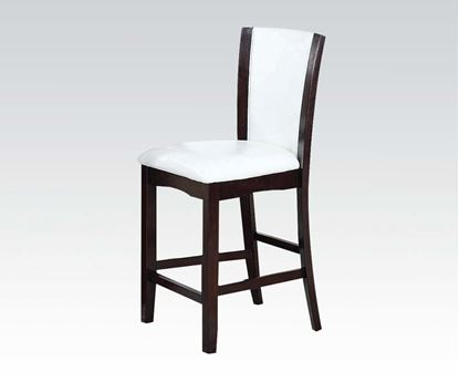 Picture of Malik 2 Pcs. Espresso & White PU  Counter Height Chair    (Set of 2)