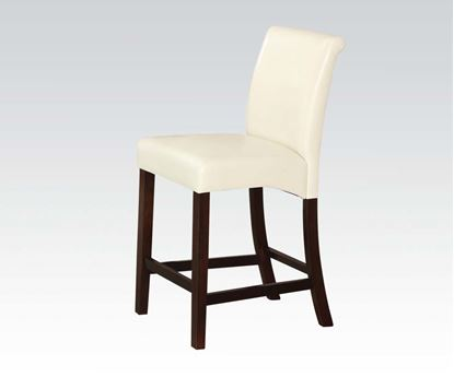 Picture of Counter Height Chair in Ivory Bycast PU Finish Set of 2    (Set of 2)