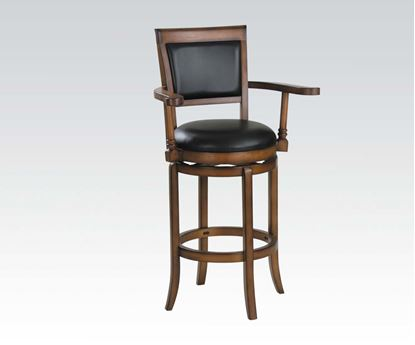 "Picture of High Back Upholstered 30"" Seat Height Swivel Stool"