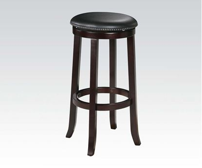 "Picture of Traditional Espresso Finish 2 Pcs. Bar Stool, 29""H    (Set of 2)"