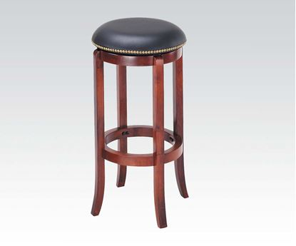 "Picture of Cherry Finish Swivel Bar Stool 29"" Seat Height"
