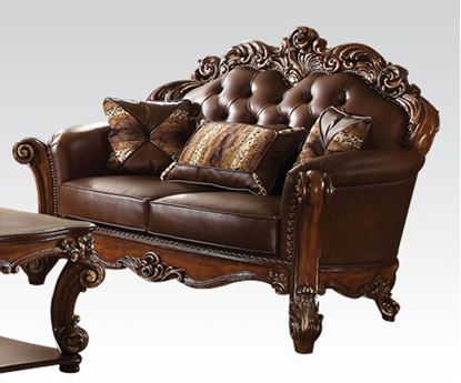 Picture of Traditional Vendome Cherry Loveseat w/ Pillows