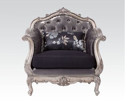 Picture of Chantelle Antique Platinum Chair with Pillows